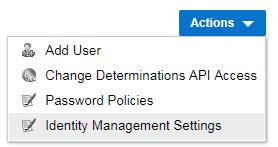 Identity Cloud Service integration OPA Configuration Turn on IDCS as identity provider for any OPA site Easily connect OPA to IDCS On OPA Hub Permissions tab, choose Identity Management Settings