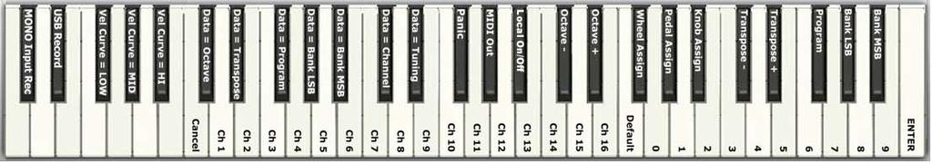 29 Advanced ProKeys Sono Functions in Edit Mode The button to the left of the keys, labeled Edit Mode, is used to access additional functions of the keyboard.