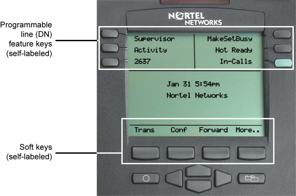 About the phone About the phone The Nortel IP Phone 2004 brings voice and data to the desktop by connecting directly to a Local Area Network (LAN) through an Ethernet connection.