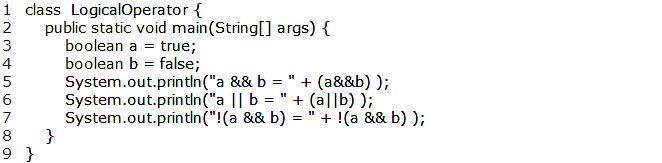 Operators 91 Logical Operators Expressions that result in Boolean values such as relation operators can be combined to form more complex expressions. This is handled through logical operators.