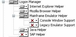 TAM E-SSO Installation and Setup Guide Logon Manager (requires 1762 KB of space) The helper plug-ins available are: Internet Explorer Helper Mozilla Browser Helper Extension helper that adds SSO
