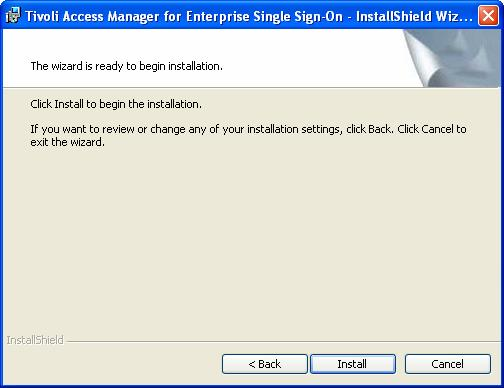 TAM E-SSO Installation and Setup Guide Space Click Space to display the Disk Space Requirements for the installation of the