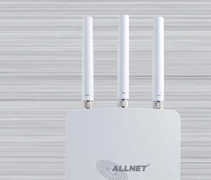 11ac wireless LAN concurrent Up to 1300Mbps in 5 GHz network Up to 450Mbps in 2,4 GHz network Supports Mesh in 2,4 GHz band Up to 29 dbm transmit power on both 2.