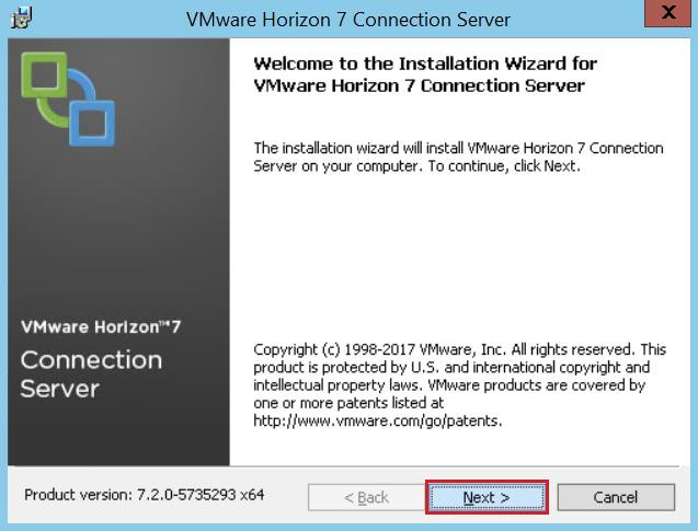 Exercise A4: Installing Connection Server After downloading the installation files, start the installation process by installing the Connection Server on a virtual machine.