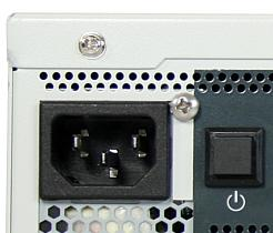 AC input Fig. 22: AC input connector on the front side of the chassis To connect the KBox B-101 to a corresponding AC main power supply, please perform the following steps: 1.
