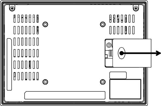 5.6.2 IC755CxW07CDx To install or replace the battery for the IC755CxW07CDx Caution Replace the battery for the IC755CxW07CDx only with GE battery part number IC755ACCBATT. 1.