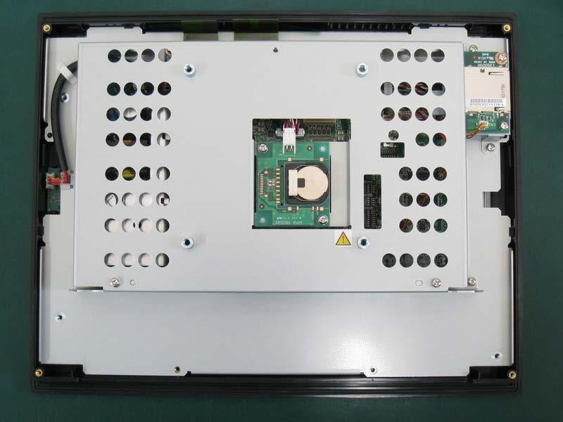 The battery will be exposed on the back of the unit. Battery Part Number IC755ACCBATTNL IC755CxSxxCDx Battery 4.