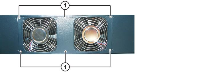 "Procedure 1. Remove the control box from the drive box. (>>> 11.3 ""Removing the control box from the drive box"" Page 90) 2. Remove the fastening screws from the fan holder. Fig."