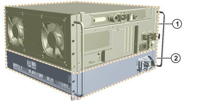 Fig. 3-2: Overview of KR C4 compact 1 Control unit (control box) 2 Power unit (drive box) 3.