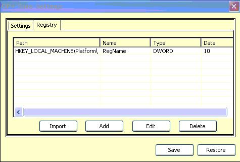 Import registry data from XML file An alternate method to input the data to the registry is by using the Import option where