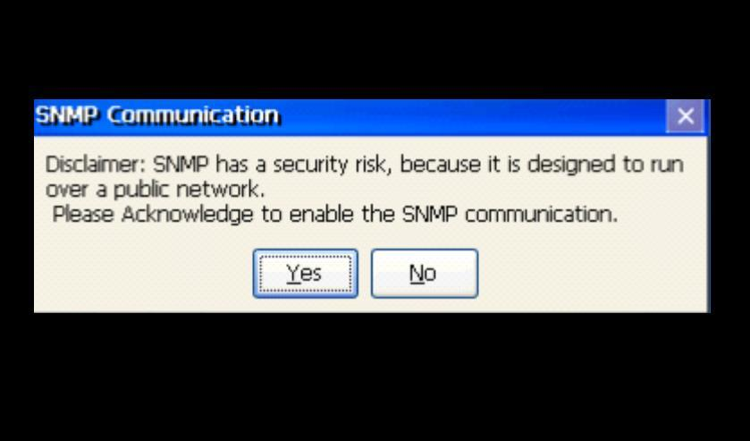 3.9.5 Enable or Disable SNMP Agent The QuickPanel + Operator Interface can be enabled as a Simple Network Management Protocol (SNMP) Agent with the capability to communicate with SNMP Managers for