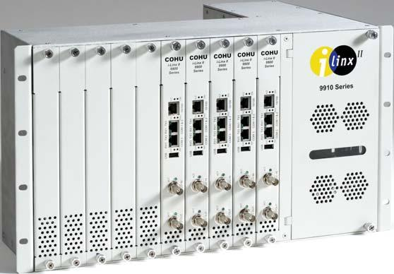 options for high density configurations Integral web server for viewing, control and management using standard web browsers Supports full motion video at selectable range of resolutions up to 4CIF