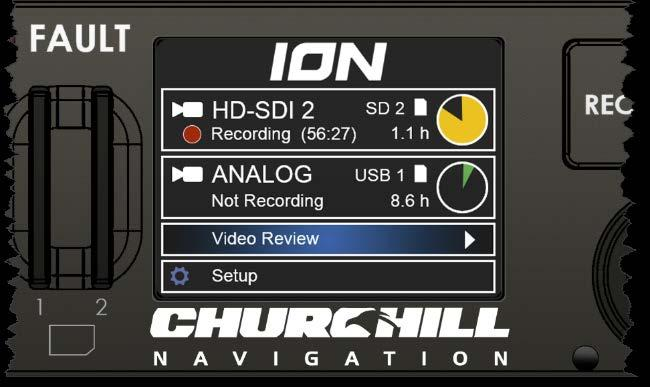 Section 3 Playback 3.0 Description This section contains information for playing back the video captured by the Churchill Navigation ION video recorder. 3.1 File Format The ION s video files will be saved in.