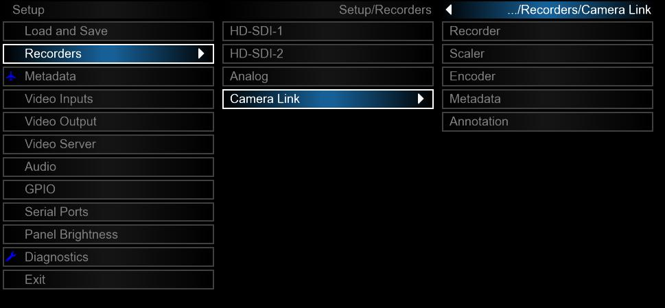 5.2 Camera Link Operation When ION detects that a Camera Link camera has been connected to the system, menu options for configuring the Camera Link input will be enabled in the