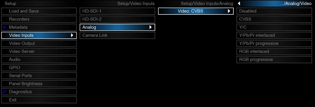 b) VANC HD-SDI1 (and HD-SDI 2) Each recorders VANC channel can be enabled or disabled via this setting. If the input to the recorder you are using does not provide VANC, disable this setting.