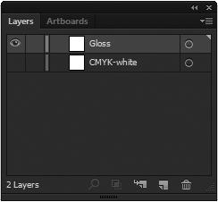 "4-4 Composing Printing Data At the layer palette, display ""White (or"
