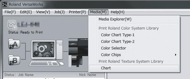 Note: When printing a texture chart, the [Quality] settings from the [Queue Properties] window are always applied.