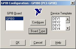 Connecting an HP Series LC Installing and Configuring the PCI-GPIB Hardware Figure 6-11. GPIB Configuration dialog box 2. In the GPIB Configuration dialog box, select GPIB0 from the GPIB Board list.