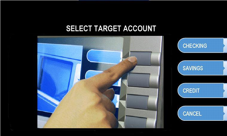 Step 5 Select the target account to be transferred TO.