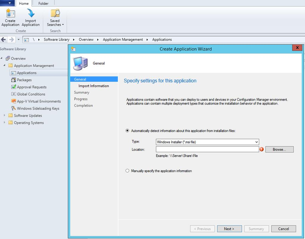 How to deploy V-locity using System Center Configuration Manager (SCCM) 2012 This section describes how to create an application with Microsoft System Center Configuration Manager (SCCM) that can be