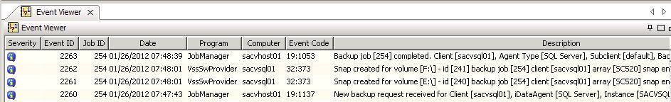 Figure 58: SQL backup options By default, the first time a SnapProtect backup runs it will create a full backup set regardless of what the backup type is set to.