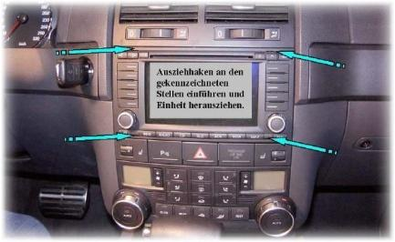 Instruction for Audi A3 und A4 with RNS-E: 1.