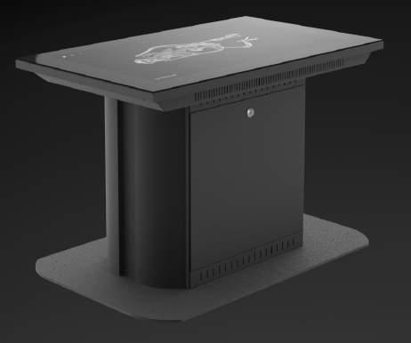 FIXED TABLE 40 INSIDE EXPLORER TABLE A 55 complete premium plug and play projective capacitive multi-touch table designed for use in public settings.