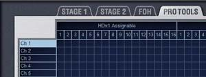 In this mode, 16 assignable outputs for recording and 16 assignable inputs for playback are freely available.