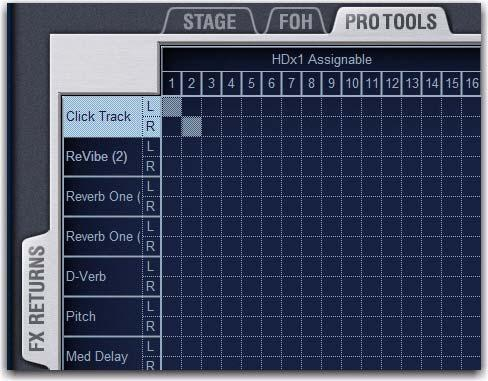 Recording Digital Splits When recording digital splits of Stage input channels, assignable inputs and outputs are freely available and independently routable.