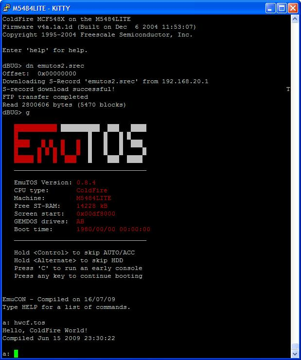 EmuTOS in terminal Can also run