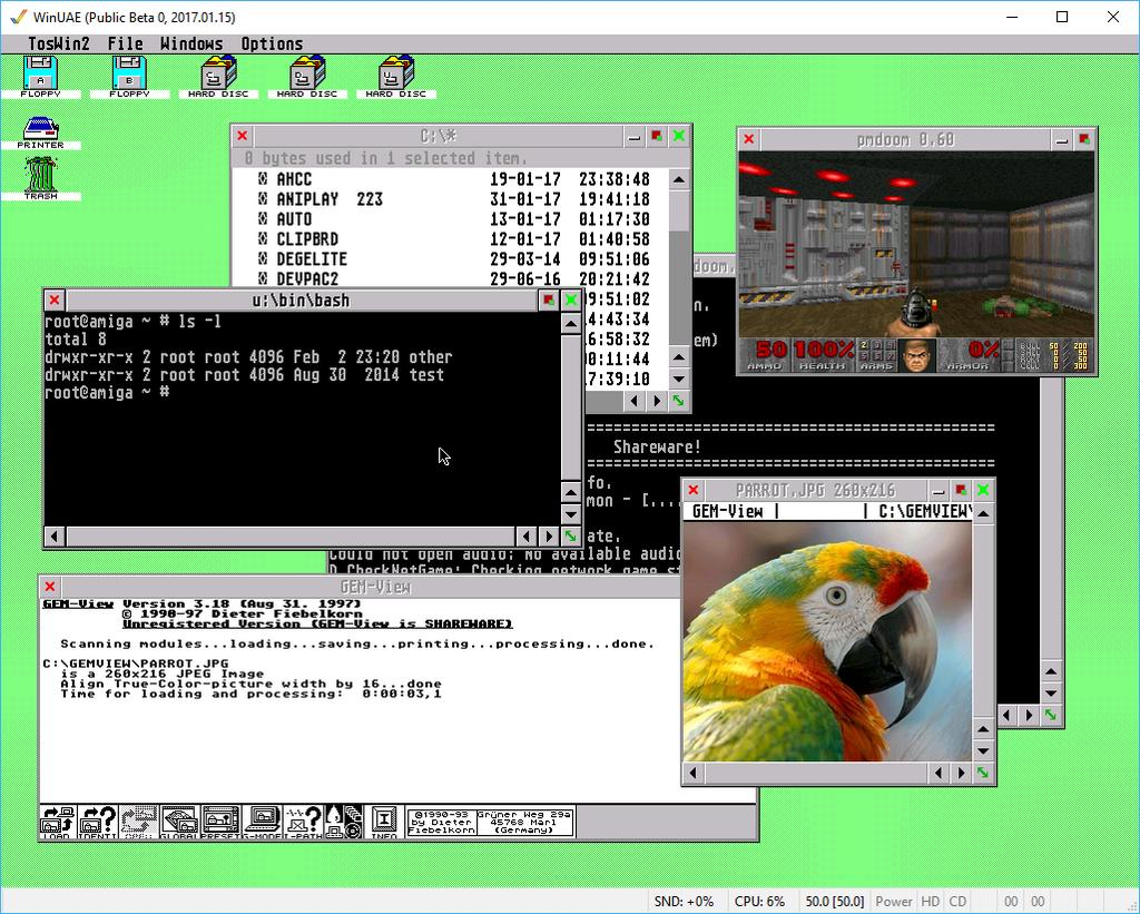 fvdi driver for WinUAE This is an Amiga emulator running EmuTOS ROM, fvdi