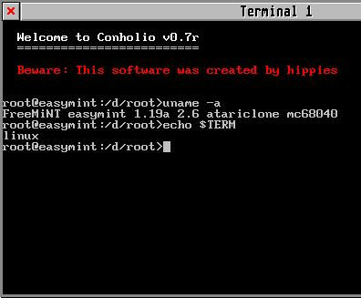 Conholio Terminal emulator by Peter