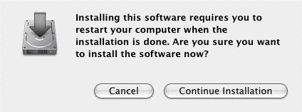 Click Continue Installation in the next dialog box that