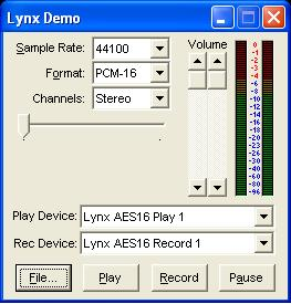 Launch the Lynx Demo application by double-clicking the Demo32.exe file. The Lynx Demo program should appear in the upper left corner of your screen.