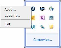 the Five9 icon in the system tray and choose Exit.