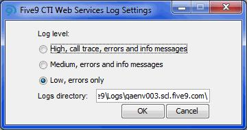 troubleshoot issues with the Five9 CTI Web Services.