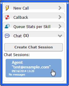When you participate in multiple chat sessions, you can open each one from the Chat tab of your softphone.