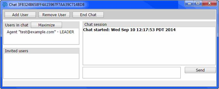 Using the Softphone Working with Chat Sessions Initiating Chat Sessions You can initiate a chat session and invite one or more users. 1 Click Chat > Create Chat Session.