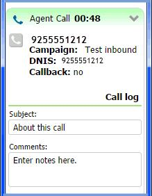 Processing Calls Ending Calls 3 To close the section, click Call Log again. After the call, the call log is automatically saved.