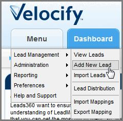 Managing Your Call Activity in Velocify Creating Leads Logs Only: lead activity, such as failed and completed calls, executed triggers, and sent email messages.