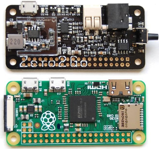 Product Overview Zero2Go is a small and smart power supply add-on for Raspberry Pi. When using the pogo pin connector (included in package), it can connect to Raspberry Pi Zero without soldering.
