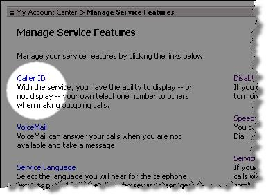 Setting Caller ID Options The Caller ID feature allows you to see the phone number of those who call you.