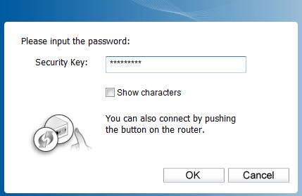 prompted to enter the password in the security key field, as shown in Figure 3-3.