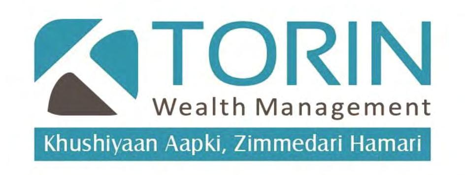 Trade Marks Journal No: 1835, 05/02/2018 Class 36 3712411 27/12/2017 TORIN WEALTH MANAGEMENT G-31- B WING, INTERNATIONAL TRADE CENTER (ITC BUILDING) MAJURAGATE, SURAT- 395002, GUJARAT.