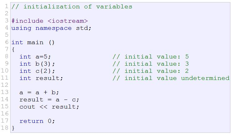 10 Initializing Variables