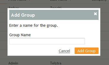 Add Grup Click the Add Grup text link t add a new grup. Enter a name fr the grup and click the Add Grup buttn.