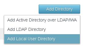 3 In the Add Directory page, enter a directory name and specify at least one domain name. The domain name must be unique across all directories in the service. For example: 4 Click Save.