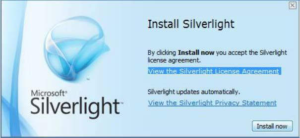 Once the download is finished, click Open. The installation starts. 1 If prompted, the user may click to Save the Silverlight.