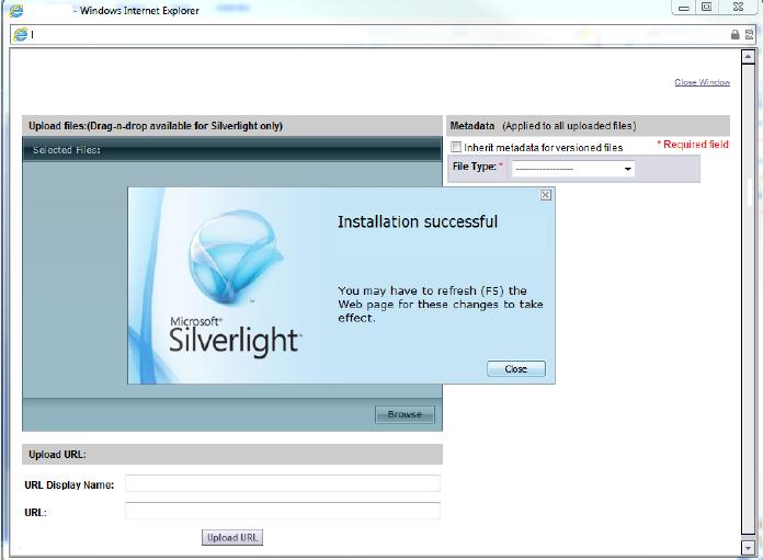 Installation of Viewer Component (IE) If not installing from the login page, and using the