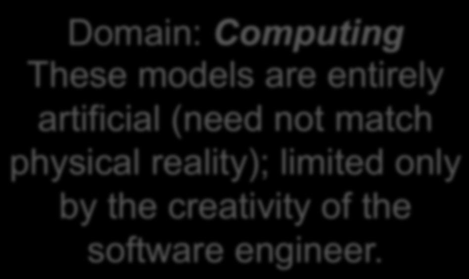 ??? Domain: Computing These models are entirely artificial
